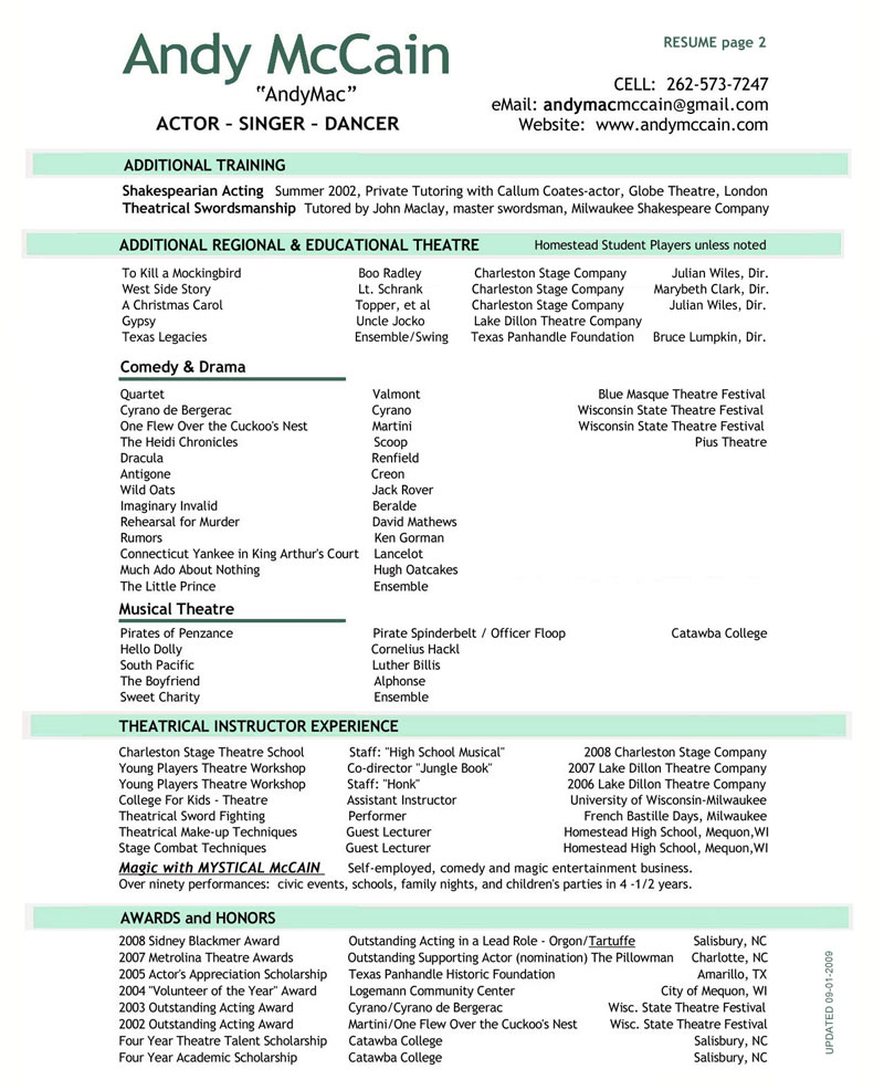 2 page resume sample two page resume pages resume format two page ...